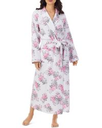 Eileen West Quilted Long Robe - Multicolour