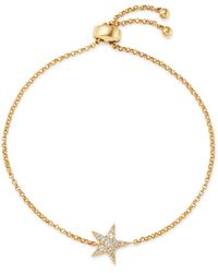 Bloomingdale's Diamond Star Bolo Bracelet In 14k Yellow Gold - Metallic