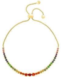 Bloomingdale's - Rainbow Sapphire Bolo Bracelet In 14k Yellow Gold - Lyst