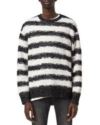 AllSaints Boucle Striped Sweater - Black