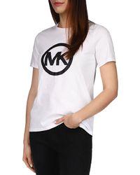 MICHAEL Michael Kors Circle Logo Tee - White