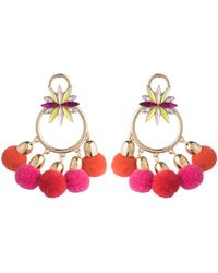 ABS By Allen Schwartz - Pom Pom Chandelier Earrings - Lyst