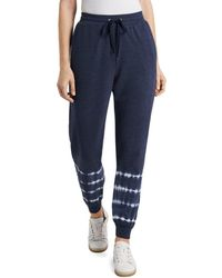 Vince Camuto Tie Dyed Jogger Pants - Blue