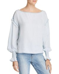 DL1961 - York St Chambray Boatneck Top - Lyst