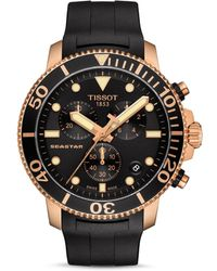 Tissot T1204173705100 Seastar Stainless Steel And Rubber Watch - Black