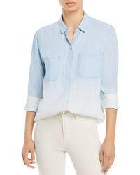 Rails Carter Ombre Button Down Shirt - Blue