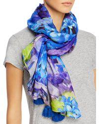 Echo Tropical Floral Wrap - Blue