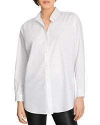 J Brand Palmer Relaxed Button Up Shirt - White