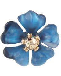 Alexis Bittar Sputnik Crystal & Multicolour Stone Flower Pin - Blue