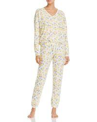 Aqua Sleep Lemon Print Pyjama Set - White