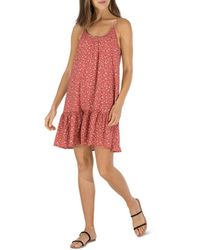 B Collection By Bobeau Floral Ruffled Trapeze Dress - Multicolour