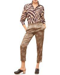 Gerard Darel Macha Loose - Fit Trousers - Natural