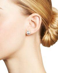 Bloomingdale's 14k White Gold Disk Stud Earrings