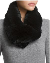 Surell - Twisted Rabbit Fur Loop Scarf - Lyst