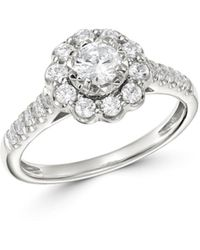 Bloomingdale's Diamond Engagement Ring In 14k White Gold