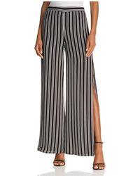 Aqua | Striped Split Wide Leg Pants | Lyst