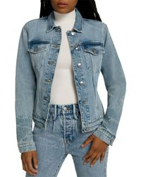 GOOD AMERICAN Committed To Fit Denim Jacket - Blue