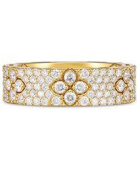 Roberto Coin 18k Yellow Gold Love In Verona Diamond Flower Ring - Metallic
