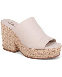 Splendid Theodore Open Toe Platform Slide Sandal - Multicolor