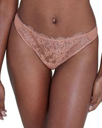 Skarlett Blue Entice Lace Thong - Brown