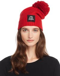Sundry Love Is The Answer Beanie - Brown
