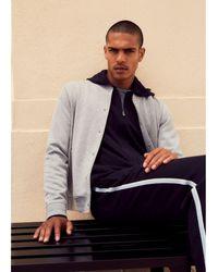 Vince Knit Bomber Jacket - Gray