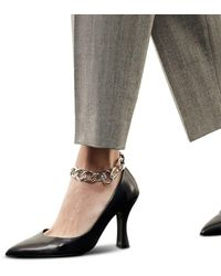 The Kooples Ankle Chain Pumps - Black