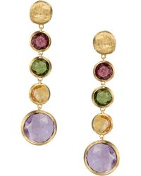 Marco Bicego | Jaipur 18k Yellow Gold And Multi-stone Drop Earrings | Lyst