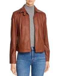 Lyssé Chelsea Faux - Leather Jacket - Brown