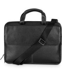 Boconi Tyler Leather Folio Briefcase - Black