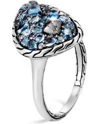 John Hardy Classic Chain Small Stone Ring