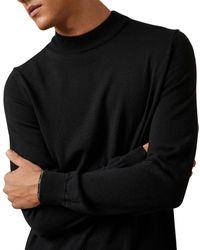 NN07 - Martin Mock Neck Merino Wool Sweater - Lyst