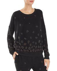 Beach Riot Embellished Leopard Sweatshirt - Black