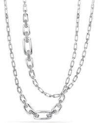 David Yurman - Wellesley Chain Link Necklace With Diamonds - Lyst