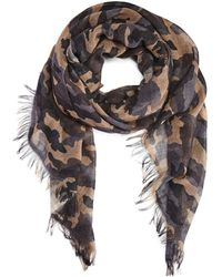 Bloomingdale's - Camouflage Print Scarf - Lyst