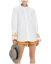 Scotch & Soda - Embroidered Flare-sleeve Top - Lyst