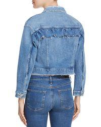 Joe's Jeans - Ruffle Denim Jacket In Holmby - Lyst