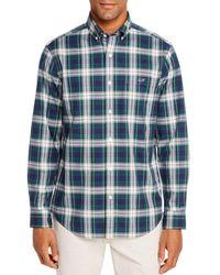 Vineyard Vines Grove Isle Flannel Classic Fit Button - Down Shirt - Green