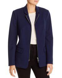 T Tahari Zip - Front Blazer - Blue