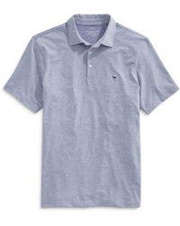 Vineyard Vines St. Jean Stripe Sankaty Regular Fit Polo Shirt - Blue