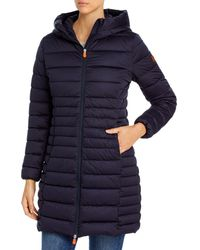Save The Duck Hooded Puffer Coat - Blue