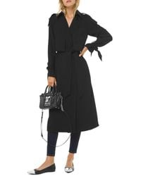 MICHAEL Michael Kors Draped Trench Coat - Black