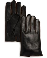 Bloomingdale's - Cashmere - Lined Nappa Leather Gloves - Lyst