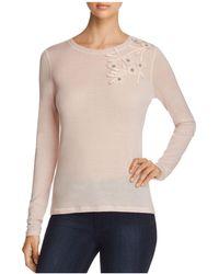 Elie Tahari - Nani Lightweight Embellished Sweater - Lyst