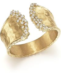 Bloomingdale's - Diamond Cuff Ring In 14k Yellow Gold, .17 Ct. T.w. - Lyst