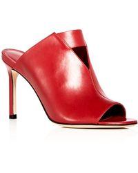 Via Spiga - Women's Mira Leather High Heel Slide Sandals - Lyst