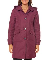 Kate Spade Hooded Trench Coat - Red