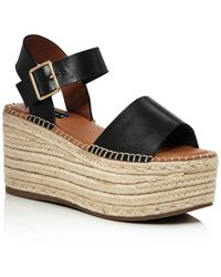 Aqua - Women's Rowan Leather Espadrille Platform Sandals - Lyst