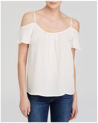 Joie - Adorlee Silk Cold-shoulder Top - Lyst