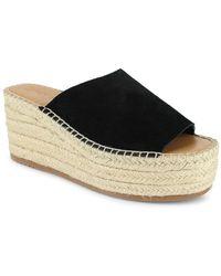 Splendid Leia Slip On Espadrille Wedge Sandals - Black